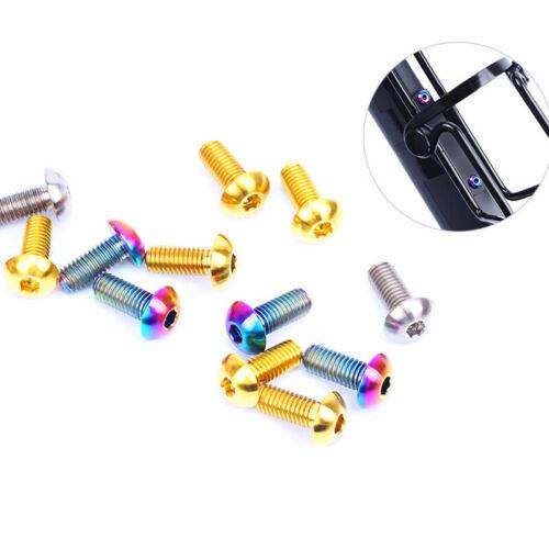 M5x12mm Fixing Screw Titanium Alloy Bottle Cage Bolt Sports Cycling Fitness 2Pcs