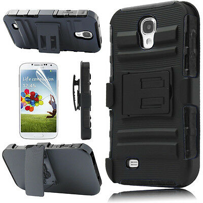 Heavy Duty Armor Holster Protector Combo Case Cover For Samsung Galaxy S4 i9500