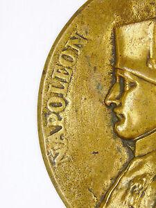 J-F-Antonio-Bovy-1795-1877-Medallon-Bronce-Napoleon-Emperador-y-Rey