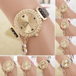 Fashion-Women-Bracelet-Leather-Crystal-Dial-Quartz-Analog-Wrist-Watch-New-Trendy