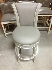 Enjoyable Details About Frontgate Chapman Swivel Counter Bar Stool 30 Seat Height Cochina Grey Leather Machost Co Dining Chair Design Ideas Machostcouk