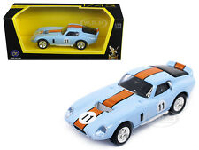 1965 SHELBY COBRA DAYTONA LIGHT BLUE #11 1/43 DIECAST CAR ROAD SIGNATURE 94242