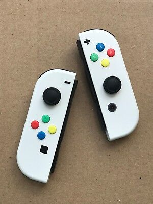 Nintendo Switch Custom Joy Con Controller Joy Cons White New Ebay