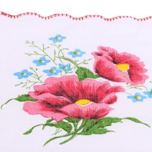 10x Vintage Stoff Taschentuch Blumen Tuch Damen Taschentuch