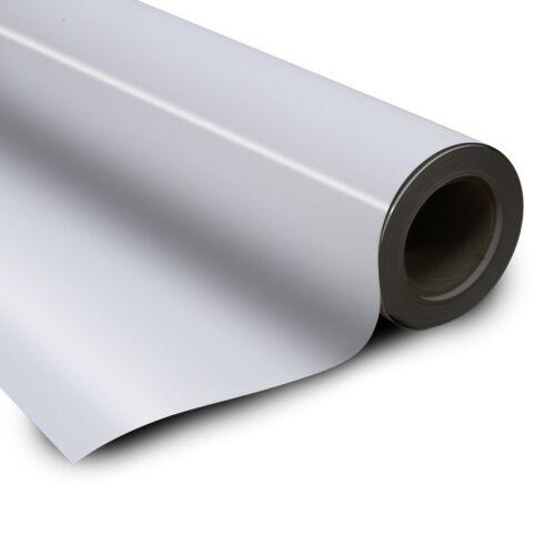 Eisenfolie Ferrofolie selbstklebend weiß glänzend 0,6mm x  62cm x 100cm