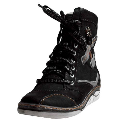 Kacper señora botas 4-6424 gris-negro