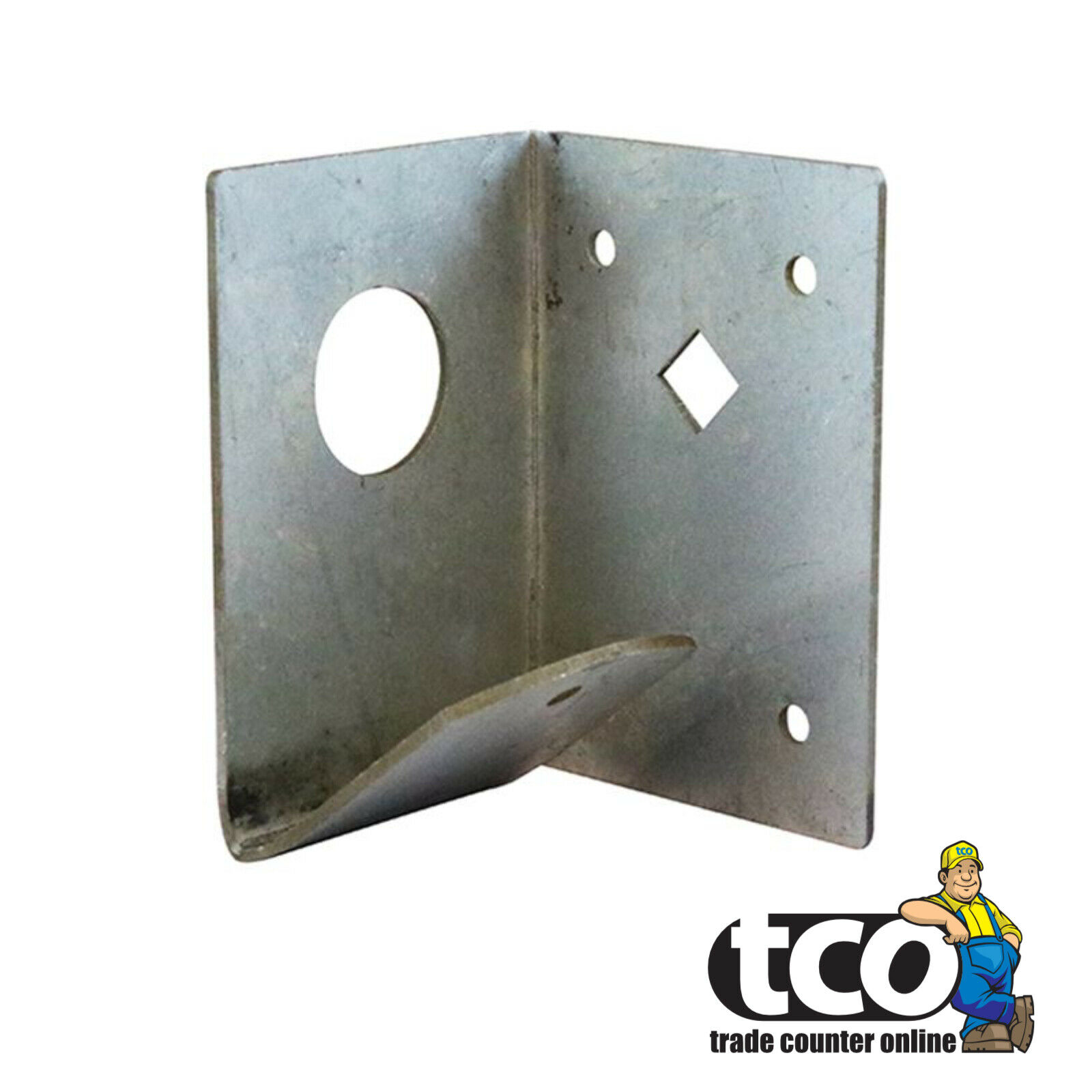 Taurus Arris Rail Mortice Support Brackets Galvanised Gate and Fence Hardware