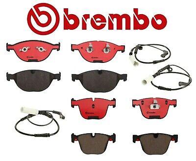 For BMW E60 E63 E64 Set of Front /& Rear Disc Brake Pads w// Sensors Brembo