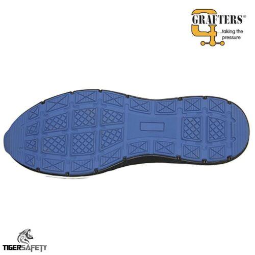 Grafters M9806A en résille noire Vegan friendly acier bouts Baskets De Sécurité PPE