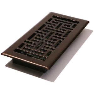 4 X 10 In (environ 25.40 Cm) Floor Register Huile Frotté Bronze Vent Amortisseur Boîte à Volets Hvac Grille-afficher Le Titre D'origine RéSistance Au Froissement