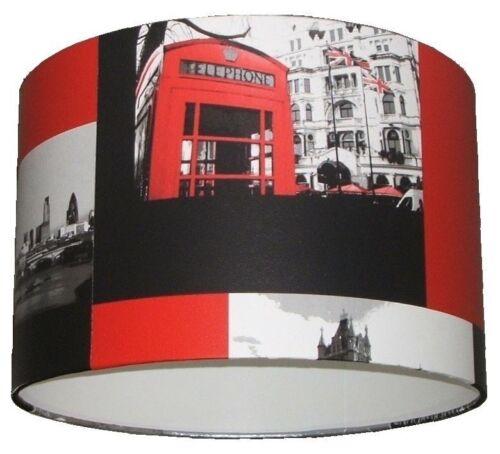 LONDON CITY-RED BUS Handmade Wallpaper Lampshade