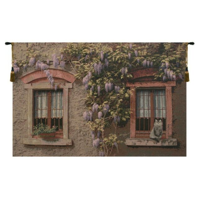 Windows With Wisteria Italian Wall Hanging A H 33 X W 53 Wall Tapestry For Sale Online Ebay