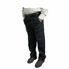 Black Skopes Mens Latimer Big Tall Flat Front Suit Trousers