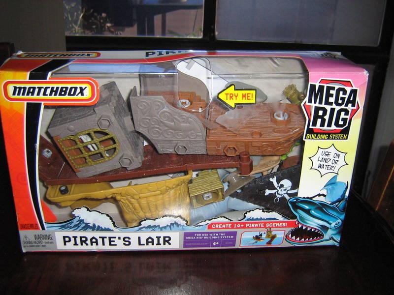 Matchbox Mega Rig Pirates Lair New Sealed HTF