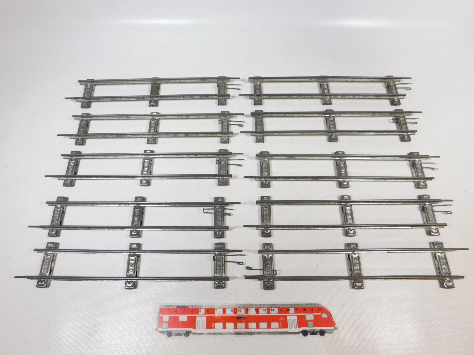 CB124-1  10x Märklin Traccia 0 Binario Pezzo pista dritto 26 cm per