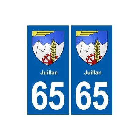 65 Juillan blason autocollant plaque stickers ville -  Angles : droits