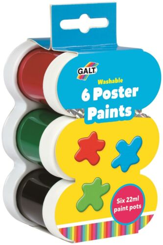 WASHABLE Kids Art Craft Toy BN Galt 6 POSTER PAINTS