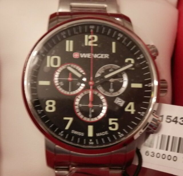 Wenger Herrenuhr  Chronograph 01.1543.102 Attitude