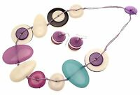 Statement Necklaces For Women Necklace And Earrings Set Purple Aw69