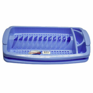High-Quality-Blue-Small-Dish-Drainer-With-Tray-Great-Design