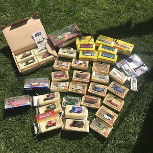 JOB-LOT-38-Boxed-Toy-Cars-Lledo-Matchbox-Corgi-Models-Vintage-Diecast