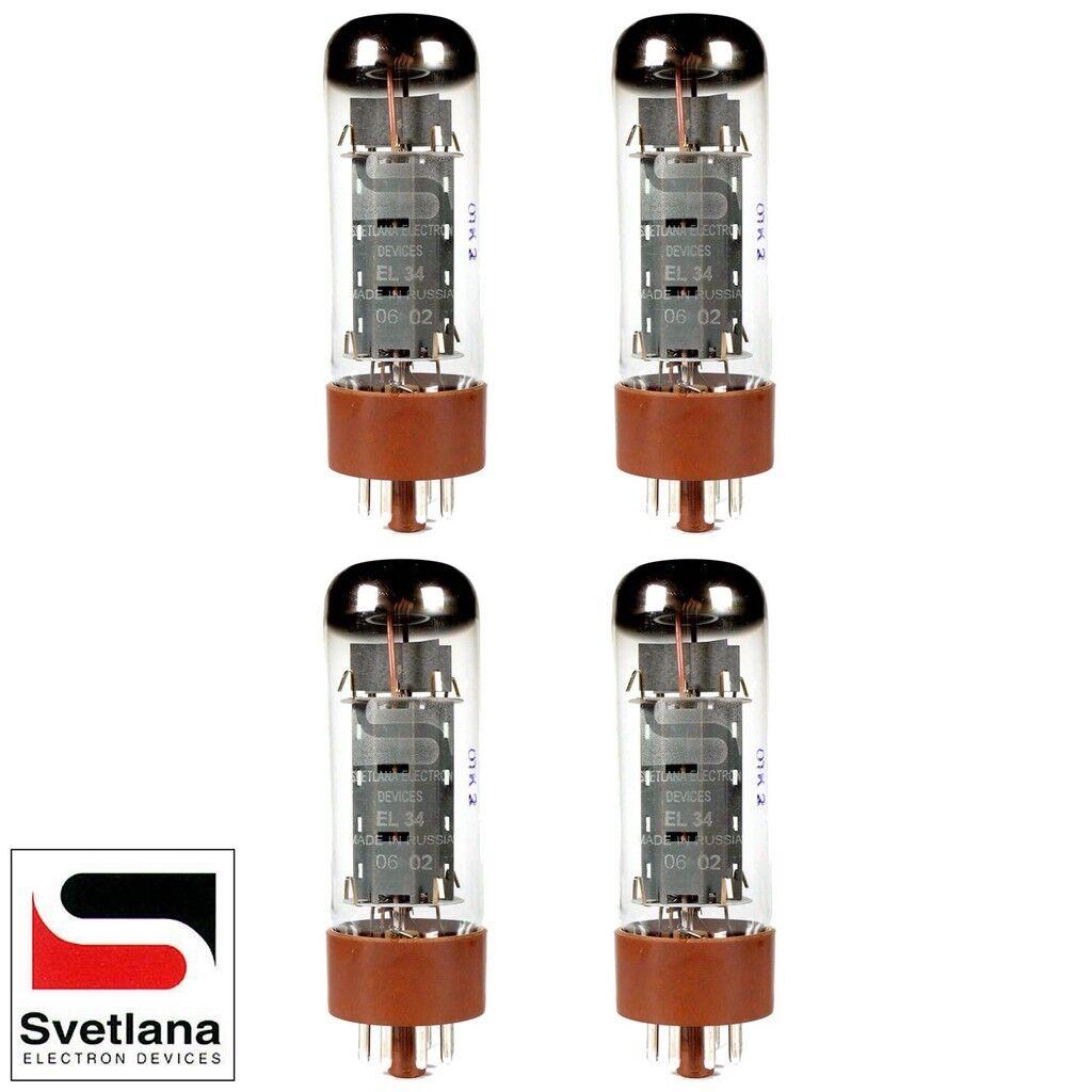 Plate Current Matched Quad (4) Svetlana EL34  Vacuum Tubes