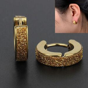 Fashion-Punk-Mens-Womens-Jewelry-Crystal-Ear-Hoop-Stud-Earrings-Gift-Huggies-F