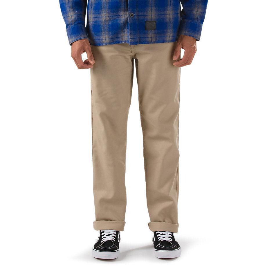 2017 NWT MENS VANS AV78 WORK PANTS II  32 waist khaki straight fit