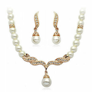 18K-Rose-Gold-Plated-Pearls-Necklace-and-Earrings-Set-with-Quality-Crystals