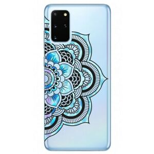 Coque Galaxy Note 10 LITE mandala 2 bleu pastel
