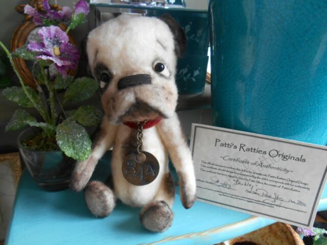 Exquisite & Cute OOAK Prim Bulldog Dog by Patti Sikes of Patti's Ratties