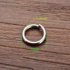 Wholesale Lots Silver Tone Stainless Steel Open Jump Rings 4mm x 1mm