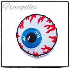 Eyeball Embroidered Iron Or Sew On Patch, Horror, Halloween, Fancy Dress Cosplay