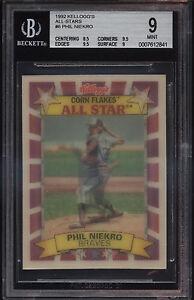 1992-Kellogg-039-s-Corn-Flakes-3D-All-Star-Phil-Niekro-Mint-BGS-9-Subs-9-5-Braves