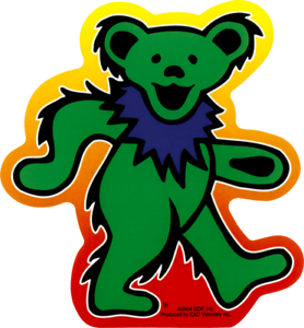 GI Grateful Dead Dancing Bear Decal Sticker Vinyl Premium Quality American Rock Band Decal 5 X 5