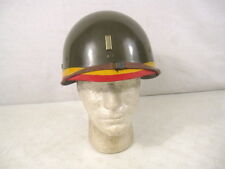 Original WWII US M1 Steel Pot Helmet Liner - Seaman Paper Co. - Field Arillery