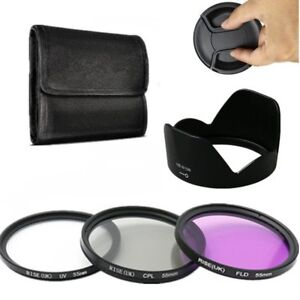 55mm-UV-CPL-FLD-Lens-Filter-Kit-Hood-HB-N106-Fr-Nikon-AF-P-DX-18-55mm-f-3-5-5-6G