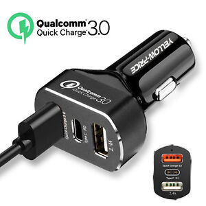 5V 5.1A 3 Port  Car Charger 2.4A Quick Charge  Universal USB Car Charger