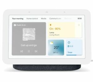 GOOGLE Nest Hub (2nd Gen) Smart Display with Google Assistant Charcoal - Currys