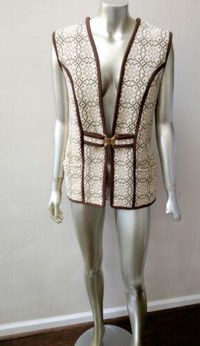 Fermoir Vintage Wales Fermoir Sz Hippy Welsh Woolens Déco M Vest Boho Tapestry pFw48pqx