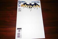 Batman #1 Custom blank Sketch cover over rare print