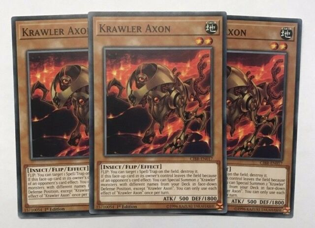 Krawler Axon CIBR-EN017 Common Yu-Gi-Oh Card English 1st Edition New