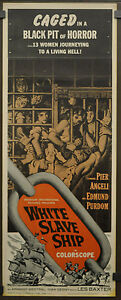 WHITE-SLAVE-SHIP-1962-ORIG-14X36-MOVIE-POSTER-PIER-ANGELI-EDMUND-PURDOM