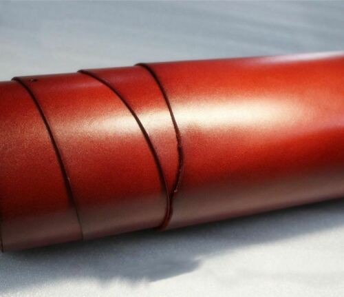 Wine red color vegetable tanned cowhide leather craft material tochigi style diy
