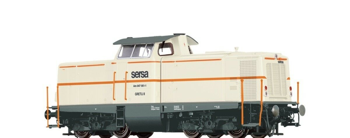 Brawa ho 42872 diesellok am847 de la Sersa suiza nuevo embalaje original
