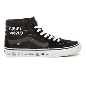 Details zu Vans x Cult SK8 Hi Pro | Mens Shoes | Cruel World Send Rescue Black White