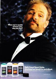 1990-Baseball-Star-Kirk-Gibson-in-Tux-photo-Right-Guard-Deodorant-promo-print-ad
