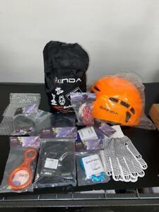 Lot-Xinda-Rock-Climbing-Kit-Harness-Protect-Helmet-Accessories-Carabiners-Ring