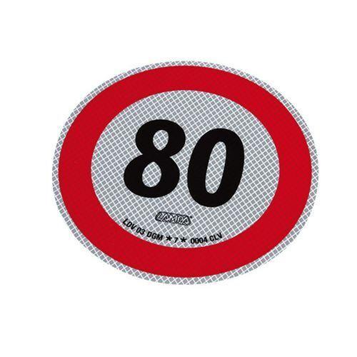 Disco adesivo limite di velocità 80 Kmh retroriflettente Camion Truck