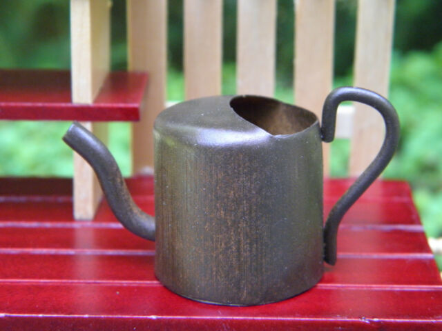 Miniature Dollhouse FAIRY GARDEN Accessories ~ Large Rust Tin Watering Can ~ NEW